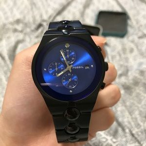 Fossil men's arkitekt black tone watch